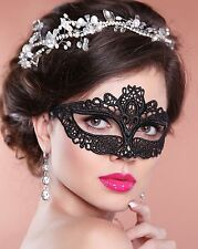 Black Lace Masquerade Mask Amelia NEXT DAY DELIVERY to Aust Metro