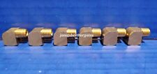 Solid Brass Street Pipe 90 Degree Elbow 1/8 Inch Male Female NPT Air Fuel 6 Pack