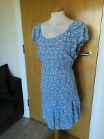 Ladies NEXT Dress Size 18 Light Blue Smart Casual Day Party