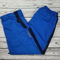 Nike Vintage 90s Mens Nylon Blue Track Pants Windbreaker Athletic Sz XL Lined