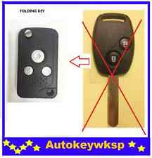 REMOTE 3 BUTTONS FLIP KEY SHELL CASE FOR HONDA JAZZ CRV Odyssey CIVIC ACCORD