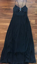 NEW ladies $299 BCBG FORMAL FANCY FULL LENGTH DRESS black STRAPPY long MEDIUM 8