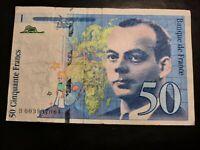 1992 / Banque De France/ 50 Francs Banknote, Bill No. B 003937064