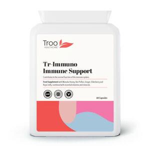 Tr-Immuno Immune Support Capsules - Bee Propolis, Honey, Royal Jelly & Vitamins