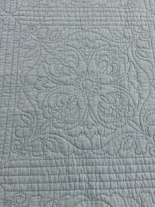 Aqua Vintage Inspired Tin Ceiling Tile Quilting Super Soft Cotton Quilt #985
