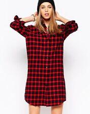 Eleven Paris Women's Tartan Plaid Shirt Dress - NEW SIZE 4 ( EU 34)