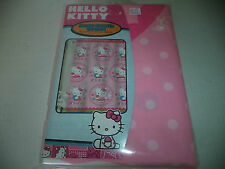 Hello Kitty Pink Fabric Shower Curtain 72 Inch X 72 Inch With Polka Dots