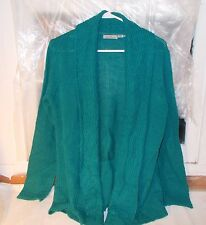 Jason Maxwell Green Cardigan Open Front Size X Large