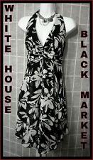 WHITE HOUSE BLACK MARKET SHEER LIGHTWEIGHT BACKLESS FLORAL DRESS SZ 4