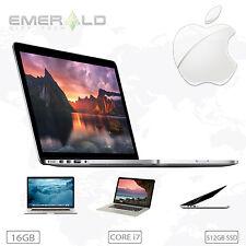 """Apple MacBook Pro RETINA Quad Core i7 16GB RAM 512GB SSD LCD 2013 15"""" HD"""