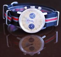 RARE Jean-Raoul-Gorgerat Chrongraph Watch 248 Landeron Movement Standard Watch