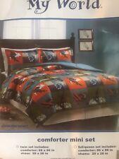 Kids Boys Twin Quilt Comforter Bedding Set Sports Snowboard Skateboard Bmx Surf