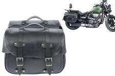 Coppia Borse Moto Pelle PU Borse Posteriori Moto Harley Custom