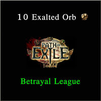 POE Path of Exile Currency 10 Exalted Orbs Betrayal League Softcore PC NA EU