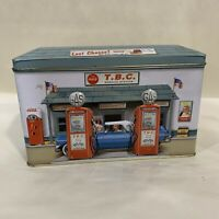 Vintage 1998 Embossed Coca-Cola Gas Station Collectible Tin VCG