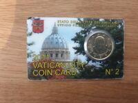 Coincard 50 Centimes Euro Vatican 2011 Numéro 2
