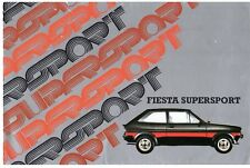 Ford Fiesta Supersport Mk1 1980-81 marché du ROYAUME-UNI RABATTABLE ventes brochure