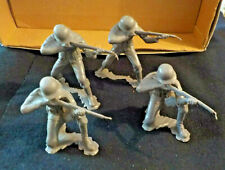 1963 Marx Toy Soldiers German lot of 4  Grey Plastic Loose Large size