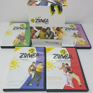 The All New Zumba Fitness - 4 Disc DVD Box Set - Beginners, Advanced, Power etc