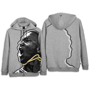 Jordan Mens 8 Vii Face Hoodie Black/Grey/White 3XL