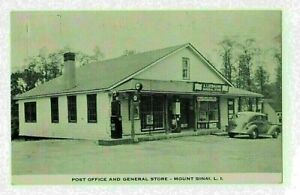 Postcard   A. Liebmann General Store & Post Office Mount Sinai Long Island NY