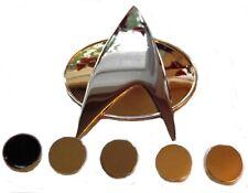 Star Trek TNG Full Size COMMUNICATOR Pin and Set of 5 Officer Rank PIPS