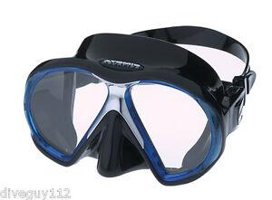 Atomic SubFrame Dive Mask for FreeDiving Scuba Snorkeling Black/Blue
