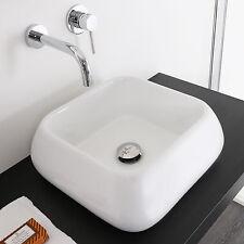 Lavabo 41 x 41 cm bianco in ceramica bacinella lavandino arredo bagno d'appoggio