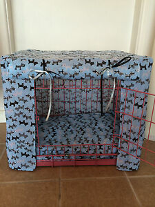 MADE TO MEASURE DOG CRATE / CAGE COVERS  / EXTRA SMALL / VARIOUS DESIGNS