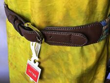 Relic Harness Buckle Stretch Woven Multi Color Belt Size S/M-New