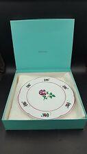 "Tiffany & Company Salad Plate ""Strasbourg Flowers"" Pattern Potugal"