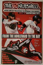 2014 Richmond Flying Squirrels 4/9 Nutshell Brandon Belt Crawford SF Giants MLB