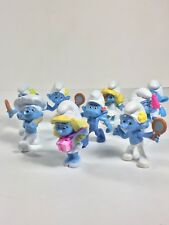 Smurfs Figures Collectibles Cartoon Tv Shows Action Figures Toy A Set Of 9