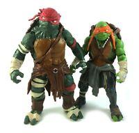 Raphael & Michelangelo TMNT Ninja Turtles Action Figures Lot 2014 Movie Mikey