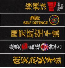 A Medida Artes Marciales Palo Bordado Negro Cinturones Karate Taekwondo Judo
