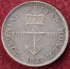 British West Indies Eighth (1/8) of a Dollar 1822  (C0501)