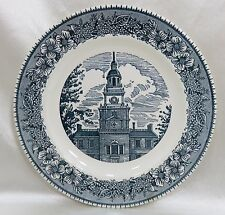 Royal China Co. Dinner Plate Colonial Heritage Blue Cavalier Ironstone 1975