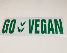Go Vegan,car decal/ sticker for windows, bumpers , panels