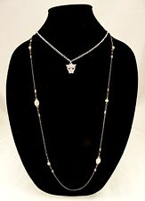Unique New Multi Strand Silver Hematite Gold Cougar Pendant Necklace #N2314