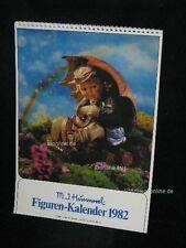 "Goebel Hummel Kalender Calendar 1982, Titelbild ""Geborgen, Mädchen"""