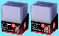 50 Ultra Pro 3x4 100PT THICK TOPLOADERS NEW Clear Rigid Hard Sports Card Sleeves