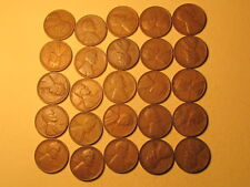 1/2 Roll 1931 P Lincoln Wheat Cents Penny in Good or Better Condition 25 Coins