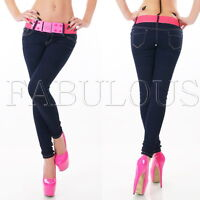 New Sexy Women's Ladies Skinny Leg Stretch Jeans Size 6 8 10 12 14 XS S M L XL