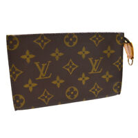 LOUIS VUITTON BUCKET PM PURSE ATTACHED POUCH BAG MONOGRAM AR0915 A54673