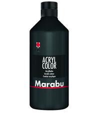 MARABU Acryl Farbe Color schwarz wasserfest deckend lichtecht 500ml neu