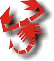 3 pezzi Adesivo Scorpione Abarth