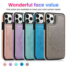 Floral Leather Flip Wallet Card Holder Case Cover For iPhone 12 Mini Pro Max 11