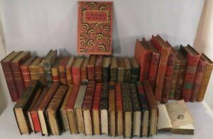 Gros lot LIVRES Relies Cuir XIXe circa 1900 books Hachette collection Buch F4