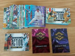 Set of 60 Futera ELITE 1996 FOILED Base Set of Cricket Cards
