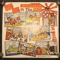 Sex Pistols Jamie Reid Holidays ORIGINAL Rare Withdrawn 1977 Virgin Poster COA